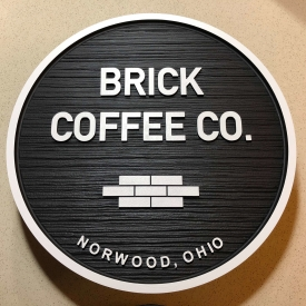 Brick Coffee Co Sign