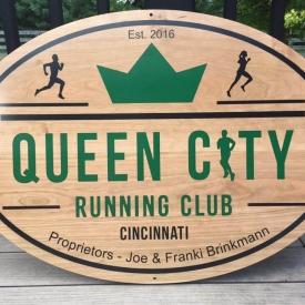Queen City Running Club Sign